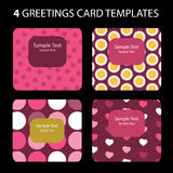 Greeting Cards. 4 Greeting Cards: Valentine's Day Stock Photo