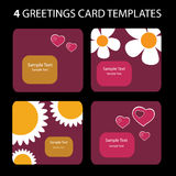 Greeting Cards. 4 Greeting Cards: Valentine's Day Stock Photography