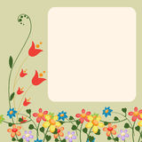 Greeting cards. Vector Illustration of floral retro design greeting card with copy space for your text Stock Photography