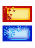 Greeting cards 2. Color illustration of Christmas cards Royalty Free Stock Photos