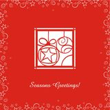 Greeting cards with Christmas Ornaments Royalty Free Stock Photos