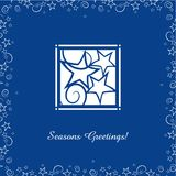 Greeting cards with Christmas Ornaments. Greeting card with cut out Christmas stars Royalty Free Illustration