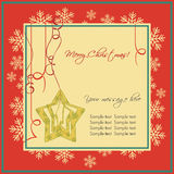 Greeting cards with Christmas Ornaments. Merry Christmas Vector Greeting Card Vector Illustration