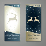 Greeting cards with deer Royalty Free Stock Photos