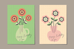 Greeting cards design. Vector illustration Stock Images