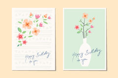 Greeting cards design. Vector illustration Royalty Free Stock Photo
