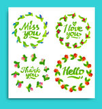 Greeting cards for different occasions everyday vector illustration