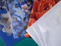Greeting cards and envelopes Royalty Free Stock Photos