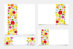 Greeting cards with floral patterns. Vector illustration. Stock Photo