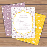Greeting cards with flowers Stock Photo