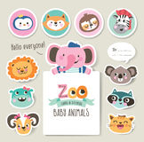 Greeting cards/ gifts/ stickers Stock Images