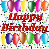 Greeting cards happy Birthday Royalty Free Stock Image
