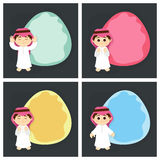 Greeting Cards for Islamic Festivals. Stock Images