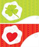Greeting cards - luck, love Royalty Free Stock Image