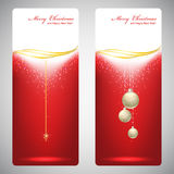 Greeting cards with red bows and copy space. Vector illustration Stock Photo