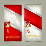 Greeting cards with red bows Royalty Free Stock Image