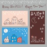Greeting cards set Stock Photos