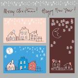 Greeting cards set Stock Photos