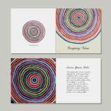 Greeting cards set, abstract circles design Stock Photo