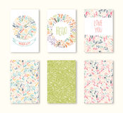 Greeting cards set Stock Photography