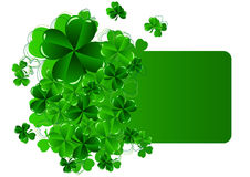 Greeting Cards St Patrick's Day with shamrock Royalty Free Stock Image