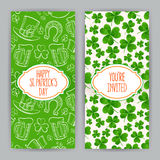 Greeting cards for St. Patrick`s Day Stock Image