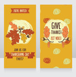 Greeting cards for thanksgiving day Royalty Free Stock Photos