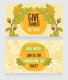 Greeting cards for thanksgiving day Stock Photo