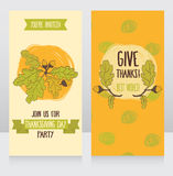 Greeting cards for thanksgiving day Royalty Free Stock Image