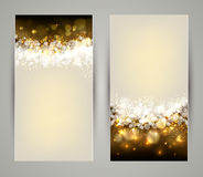 Greeting cards. Two shine Christmas greeting cards Royalty Free Stock Photo