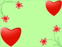 Greeting cards for Valentine's Day Royalty Free Stock Image