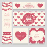 Greeting cards for valentine`s day royalty free illustration