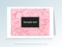 Greeting cards vector background. Greeting cards vector background, Banner and cover with marble texture and golden foil details on white background, Simple Stock Photography