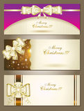 Greeting Cards With White Bows. Royalty Free Stock Photos