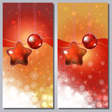 Greeting cards. Greeting cards with white ornaments and copy space Stock Image