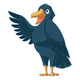 Greeting cartoon Crow Stock Images