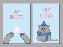 Greeting cat Stock Photos