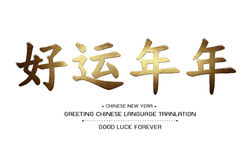 Greeting Chinese Language Tranlation Good Luck Forever Stock Photography