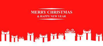 Greeting Christmas background with gifts Royalty Free Stock Image
