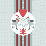Greeting Christmas card Royalty Free Stock Photos