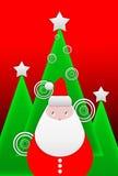 Greeting christmas card Stock Photo