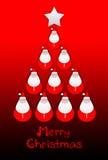 Greeting christmas card Stock Photography