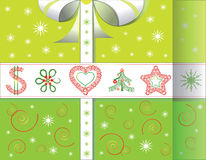 Greeting Christmas card in form of gift Stock Image