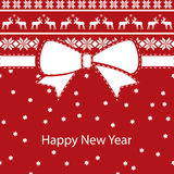 Greeting christmas card, happy new year Royalty Free Stock Photography