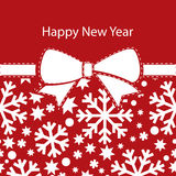 Greeting christmas card, happy new year Stock Image