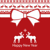 Greeting christmas card, happy new year Stock Photography