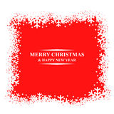 Greeting Christmas card with snowflakes border Royalty Free Stock Images