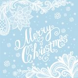 Greeting Christmas card. Vector New Year illustration with lace. Greeting Christmas card Stock Photography