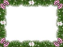 Greeting, Christmas frame. Stock Photo