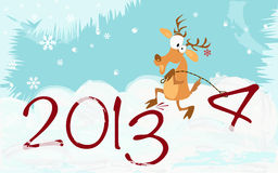 Greeting Christmas and New Yea